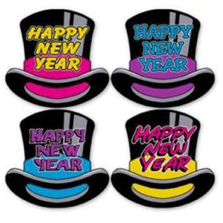 Happy New Year Top Hat Cutout