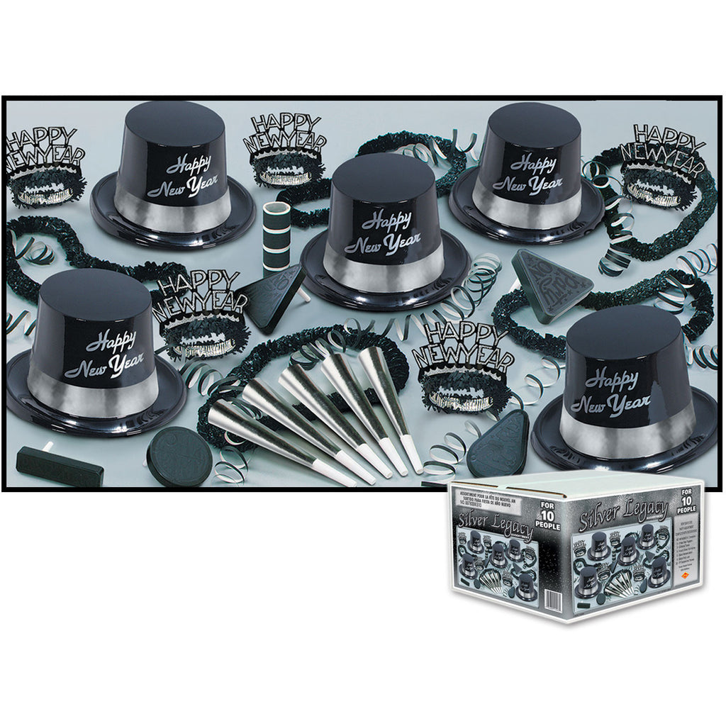 Silver Legacy New Years Eve Party Assortment for 10