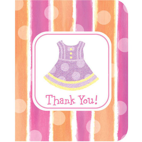 Girl Clothes Thank You Notes