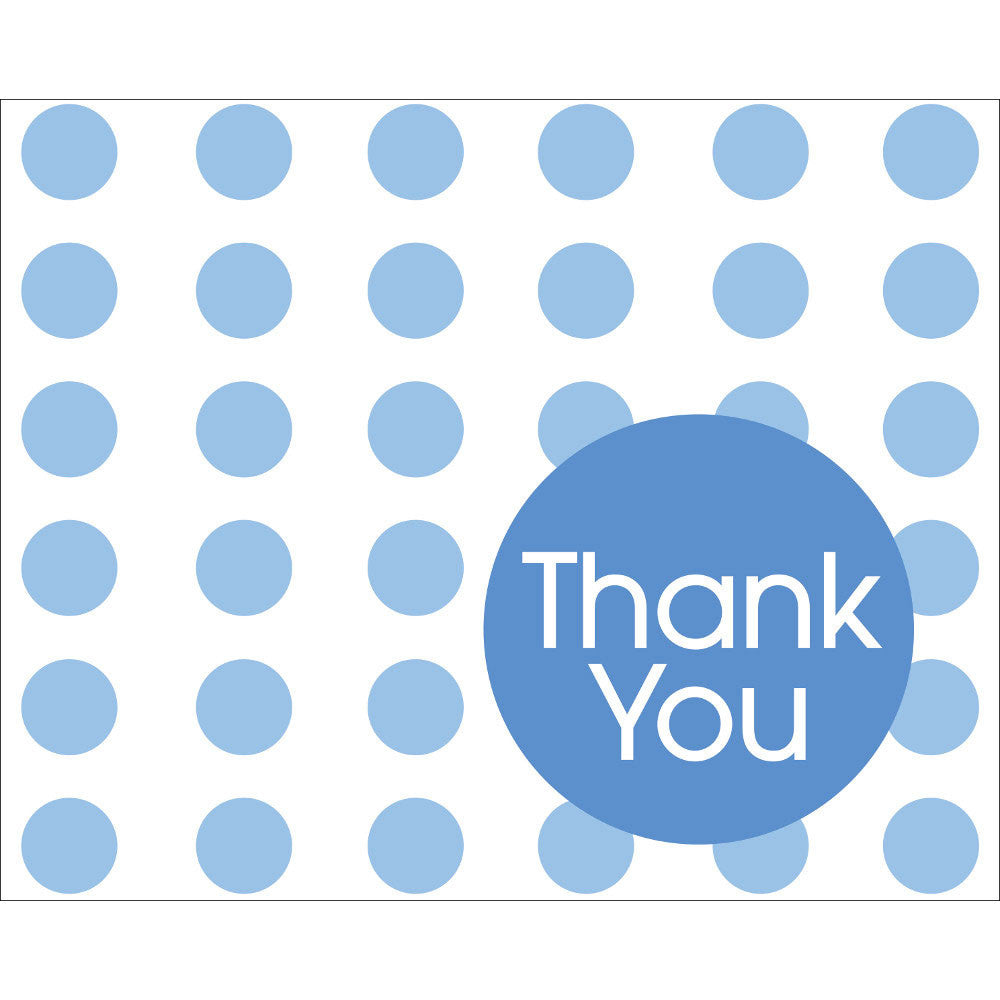 True Blue Dots Thank You Notes (8ct)