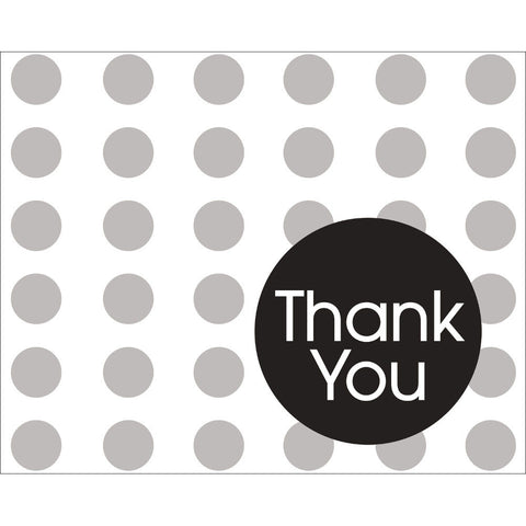 Black Dots Thank You Notes (8ct)