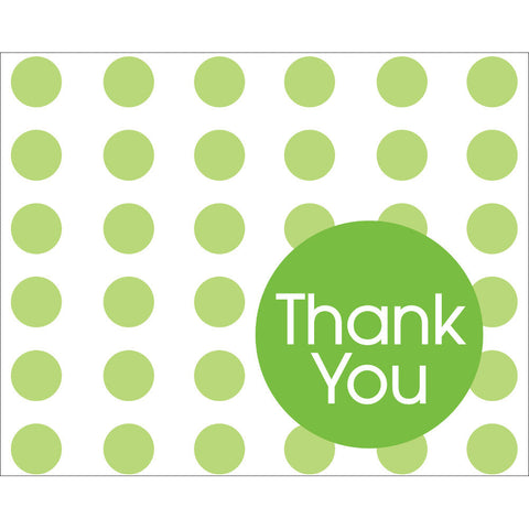 Fresh Lime Dots Thank You Notes (8ct)