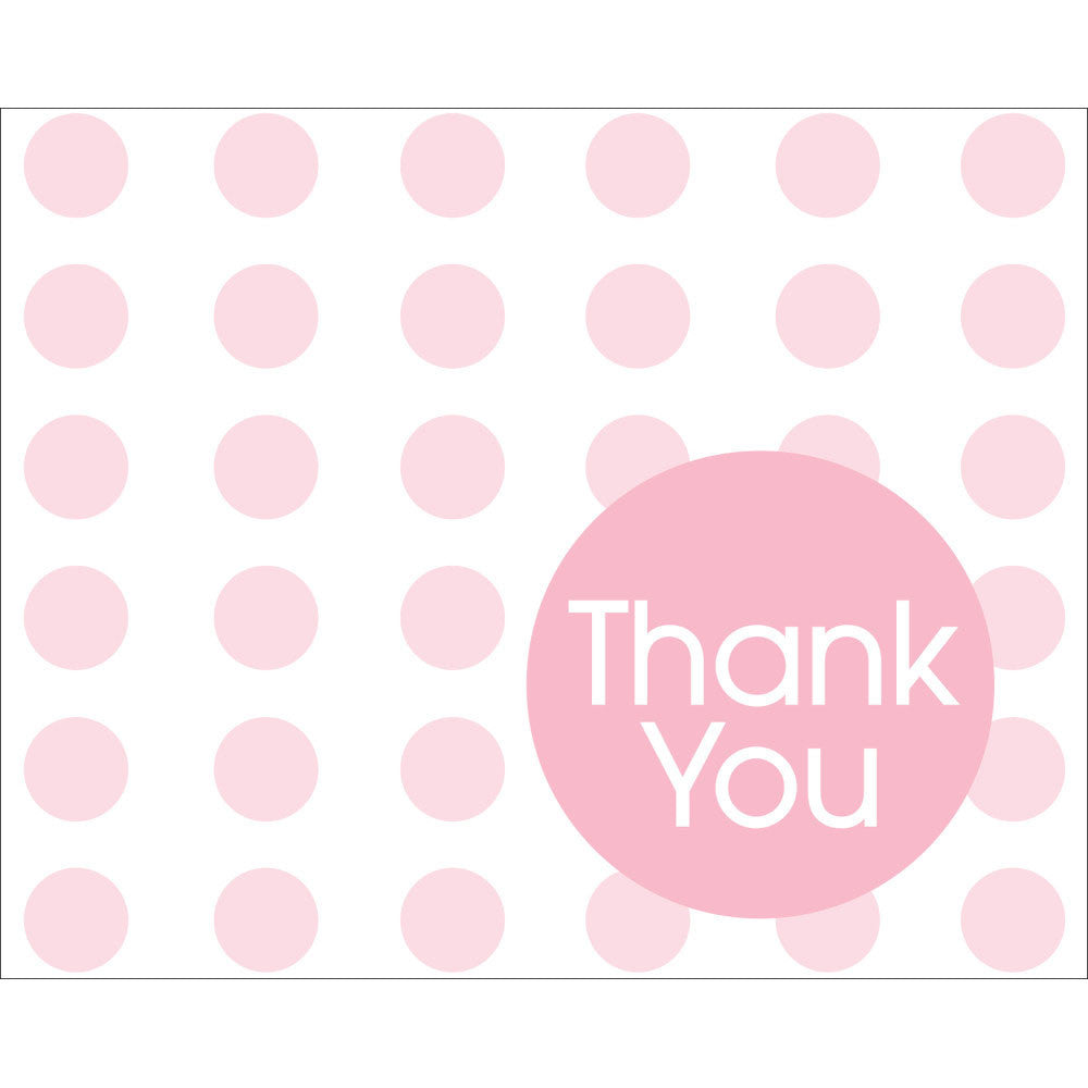 Classic Pink Dots Thank You Notes (8ct)