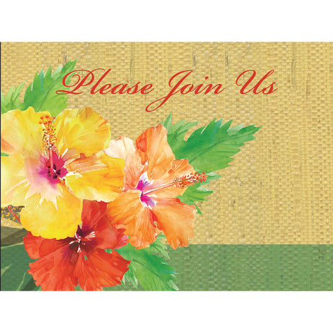 Exotic Floral Invitations