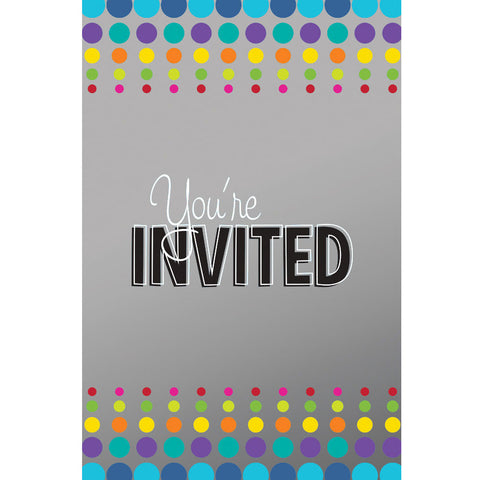 Birthday Pop Invitations (8ct)