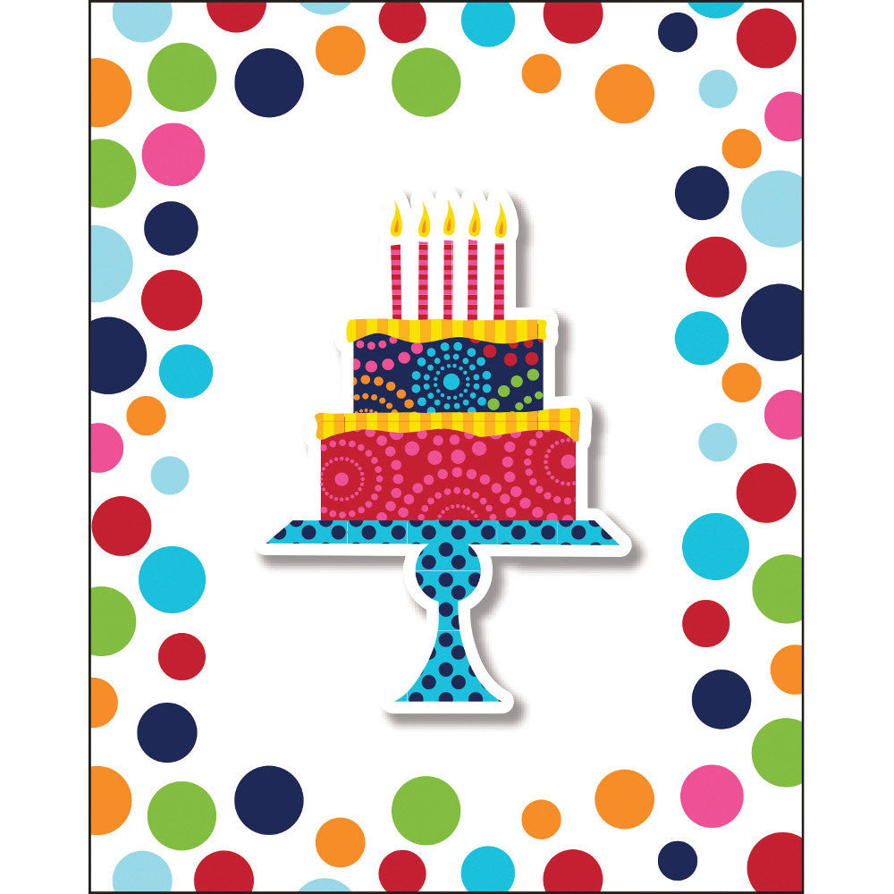 Birthday Cake Stand Invitations (8ct)