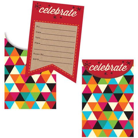 Birthday Kraft Invitation, Pop-Up