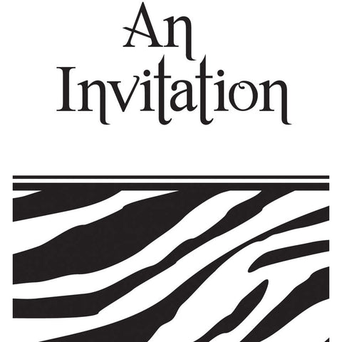 Animal Print - Zebra Invitations