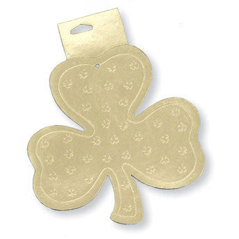 "Cutout, 8"" Foil, Shamrock, Foil 2 sided"