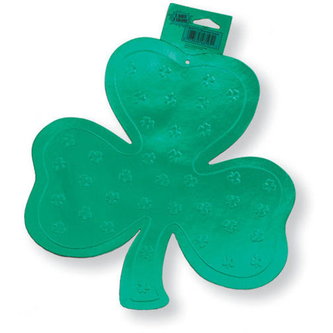 "Cutout, 12"" Foil, Shamrock, Foil 2 sided"