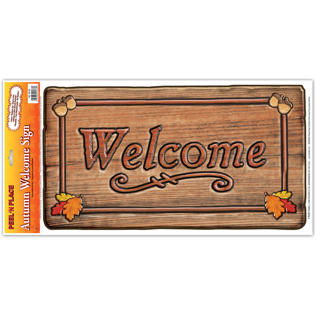 Autumn Welcome Sign Peel 'n Place