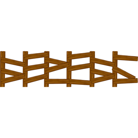 Wested Jointed Fencepost Cutout