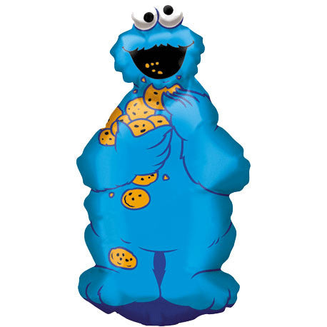 Cookie Monster Full Body Mini Shape Balloon (1 ct)