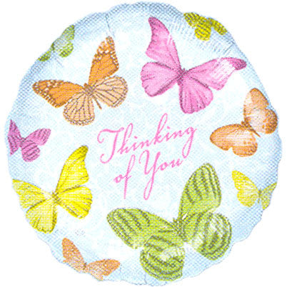 "18"" Thinking Of You Butterfly Anagram"