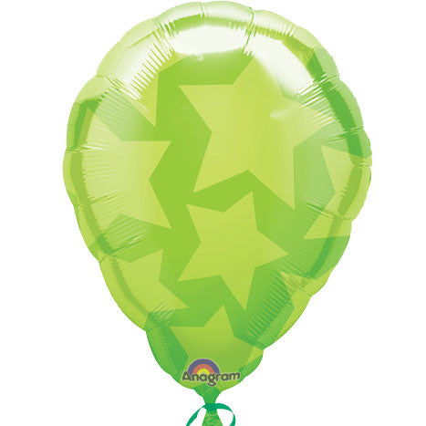 "18"" Green Stars Perfect Balloon"