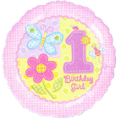 "18"" Hugs & Stitches Girl 1st Bday"
