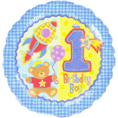 "18"" Hugs & Stitches Boy 1st Bday"
