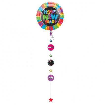 New Year Jumbo Drop-A-Line Foil Balloon