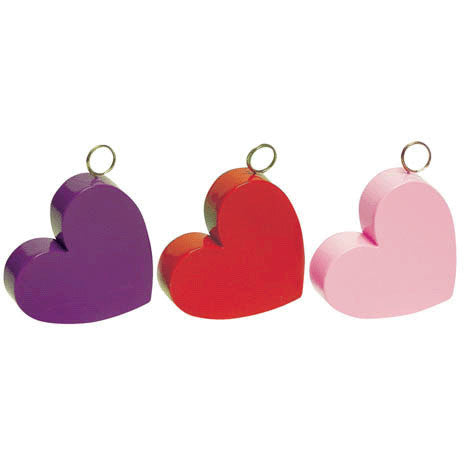 Pink Heart Plastic Weight
