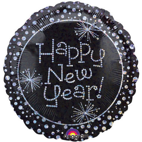 "18"" New Year Sparkles Prismatic Foil Balloon"