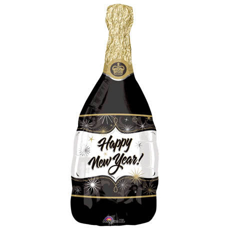 Champagne New Year Super Shape Foil Balloon