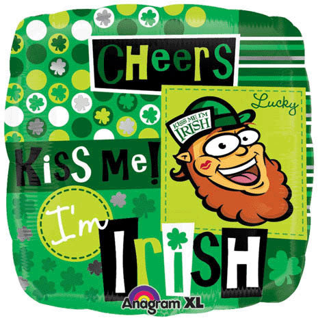 "18"" Kiss Me I'm Irish Anagram"