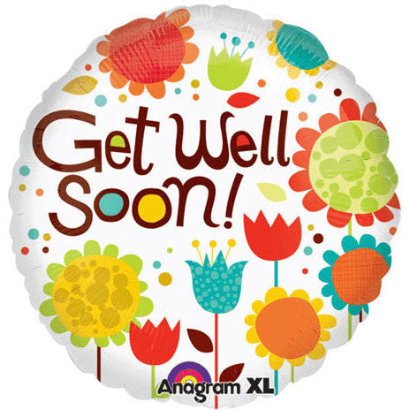 "18"" Cheery Flowers Get Well"