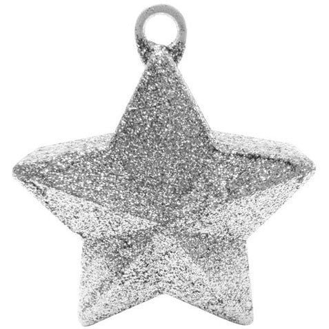 Silver Glitter Star Weight 6 Oz.