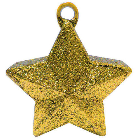 Gold Glitter Star Weight 6 Oz.