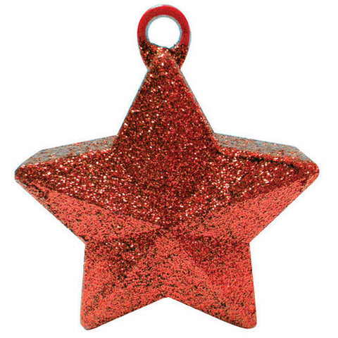 Red Glitter Star Weight 6 Oz.