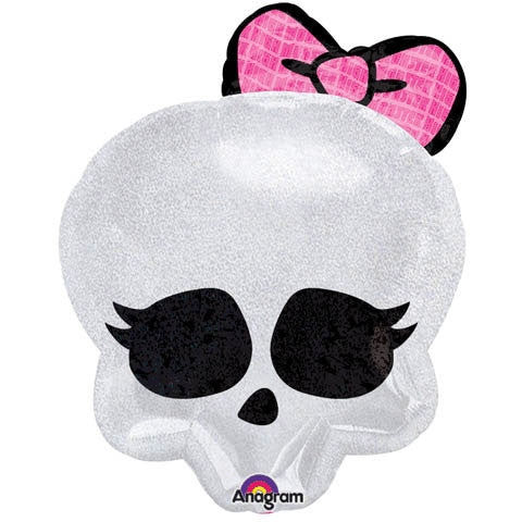 "18"" Skullete Badge Holographic Junior Shape"