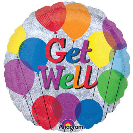 "18"" Get Well Balloons Holographic"