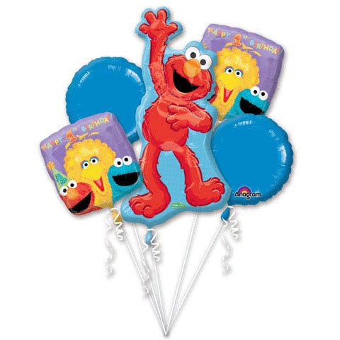 Sesame 1st Birthday Bouquet of Balloons (5pc)