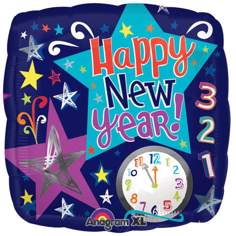 "18"" Count Down New Year Stars Foil Balloon"