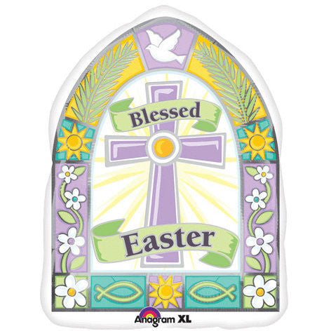 "18"" Blessed Easter Window Junior Shape"