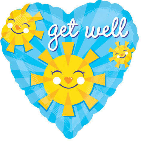 "18"" Get Well Smiley Suns Vlp"