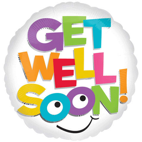 "18"" Get Well Colorful Letters Vlp"