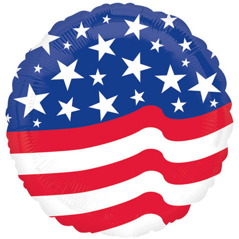 "18"" Stars & Stripes Foil Balloon"