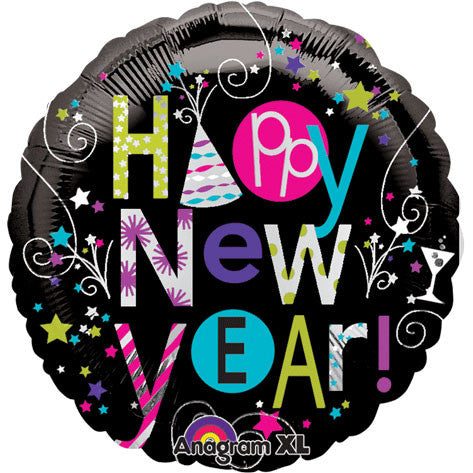 "18"" Playful Happy New Year Foil Balloon"