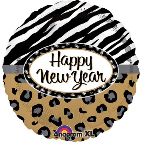 "18"" Animal Print New Year Foil Balloon"