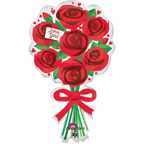 Love You Red Roses Super Shape