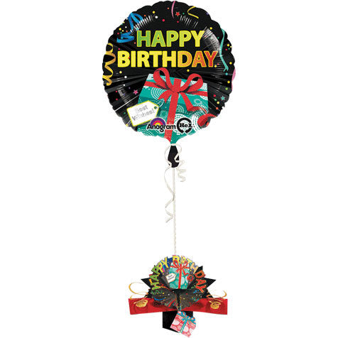 "18"" Birthday Gift Hx Pop-up Weight"
