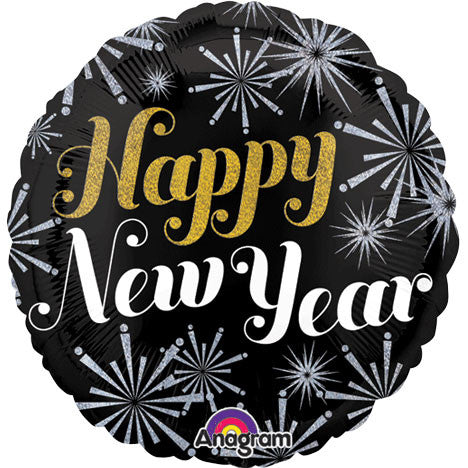 "18"" New Year Pizazz Holographic Foil Balloon"