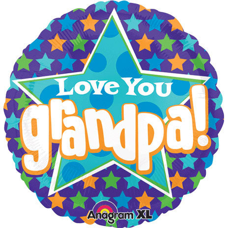 "21"" Love You Grandpa Stars Colorblast"
