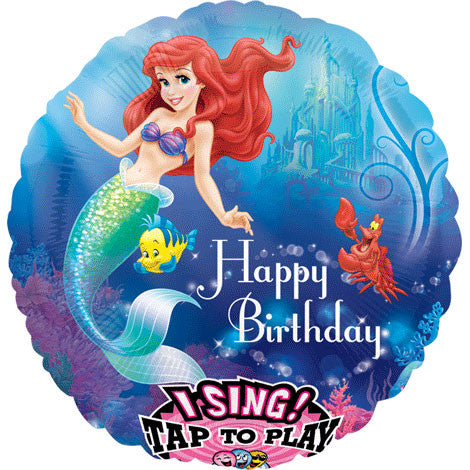 "28"" Little Mermaid Birthday Sing-a-tune"