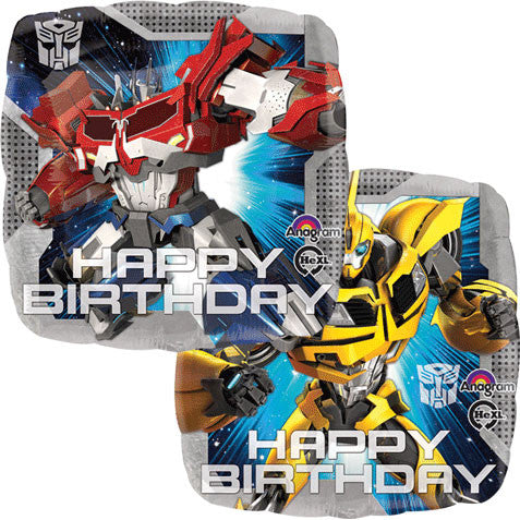 "18"" TRANSFORMERS ANIMATED BIRTHDAY HX"