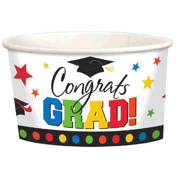 Congrats Grad 9oz Paper Treat Cups