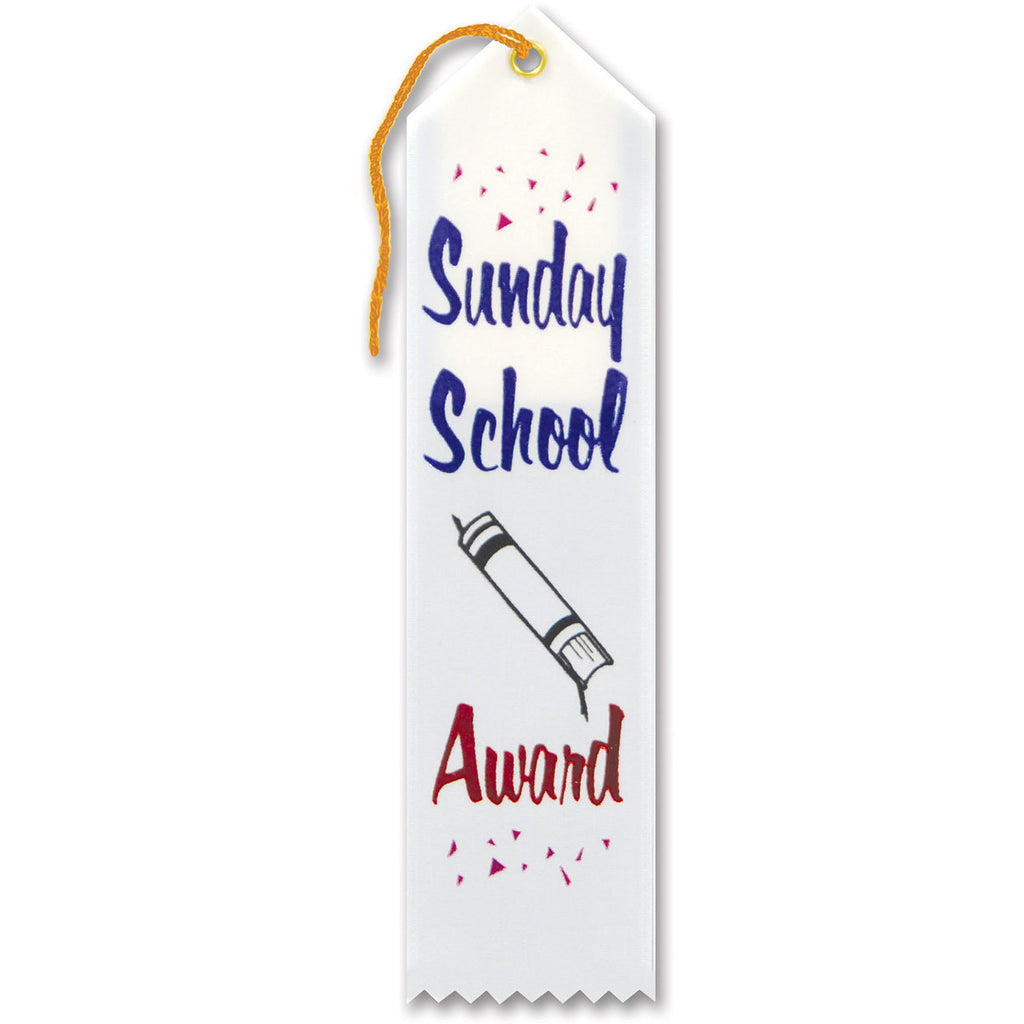 Sunday School Award Ribbon
