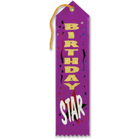 Birthday Star Award Ribbon