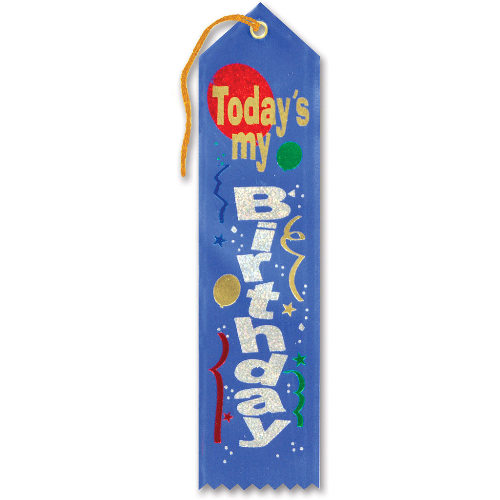 Today's My Birthday Award Ribbon